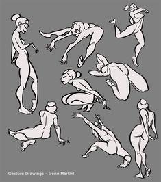 Gesture drawings by IreneMartini on DeviantArt