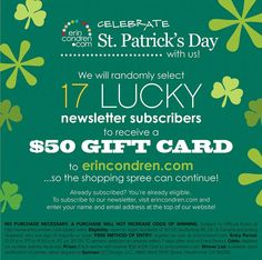 LUCKY YOU! 25% off most things site wide for one day only...AND we will randomly select 17 lucky subscribers to win a $50 EC gift card to shop at ErinCondren.com! #eclifeplanner