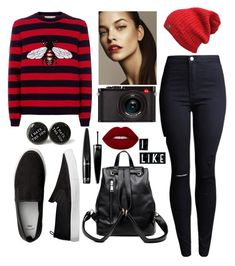 """""""Untitled #29"""" by denesyukts on Polyvore featuring Gucci, Leica, Cuero and Guerlain"""