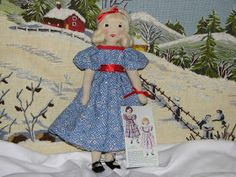 A Doll Shop of My Own: Belinda and Lucinda-Edith Flack Ackley pattern dolls Make Your Own, Make It Yourself, Comfortable Bras, Doll Shop, Doll Maker, Fabric Dolls, Knitting Projects, Doll Clothes, Free Pattern