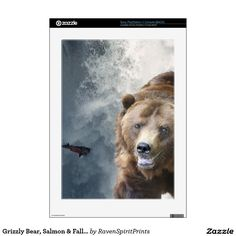 Grizzly Bear, Salmon & Falls Playstation 3 Skin PS3 Console Decal