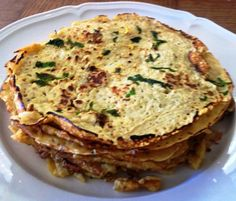 Chickpea Crepes With Chilli, Mint and Lemon