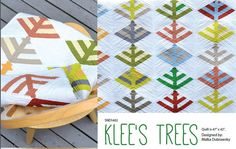 Klee's Trees Quilt Pattern by stitchindye on Etsy