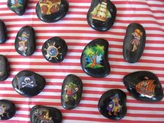 Pirate story stones...