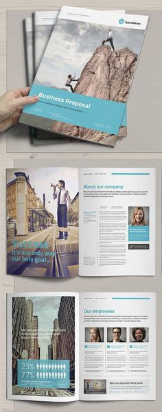 100 best creative and professional brochure templates perfect for corporate portfolio, company annual report, product catalog, fashion booklet, photography Free Proposal Template, Project Proposal Template, Business Proposal Template, Indesign Templates, Brochure Template, Sales Proposal, Proposal Sample, Proposal Ideas, Magazine Design