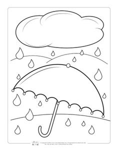 Fall Coloring Pages for Kids - Itsy Bitsy Fun Free Kids Coloring Pages, Fruit Coloring Pages, Fall Coloring Pages, Coloring Pages For Kids, Coloring Books, Umbrella Coloring Page, Rain Crafts, Children's Church Crafts, Kindergarten Art Projects