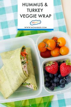 If you love hummus you are going to live these five healthy school and office lunch ideas! Wraps, sandwiches, salads, and bento boxes made with hummus and packed with protein. Healthy School Lunches, Healthy Salads, Healthy Eating, Hummus Salad, Veggie Wraps, Lunch Containers, Wrap Sandwiches, Veggies, Vegetarian