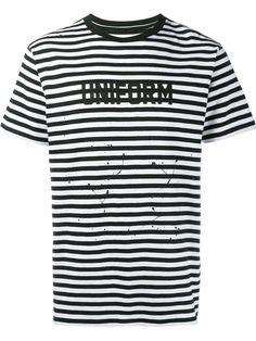 Uniform Experiment striped T-shirt Mens Striped Shorts e45e41eeca7a