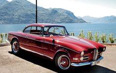1956, вода, бмв, передок, coupe, красный, классика, 503, bmw, купе