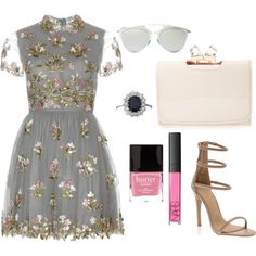 Untitled #8 by velvetfever on Polyvore featuring polyvore fashion style Valentino Ted Baker Christian Dior NARS Cosmetics Butter London