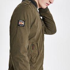 71d8b43f73e Mens Superdry Khaki bomber jacket