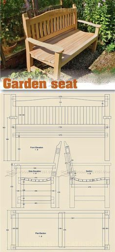 Garden Seat Plans - Outdoor Furniture Plans and Projects | WoodArchivist.com