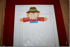 Using velcro to keep puzzle printable strips in place for little ones