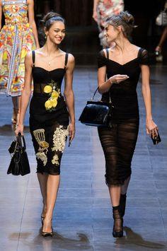 Zhenya Katava and Taylor Hill for Dolce & Gabbana, Spring 2016 RTW
