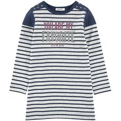Cotton knit  Jersey lining Straight fit Crew neck Shoulder patches Long sleeves Stripes Fancy print on the front Fancy studs - 38,00 €