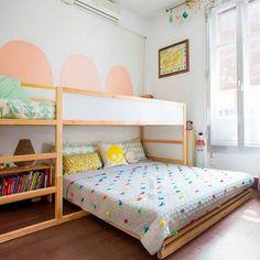 Best Baby Bedroom Ideas For Girls Kura Bed Ideas Baby Bedroom, Bedroom Decor, Bedroom Ideas, Bed Ideas, Bedroom For Girls Kids, Kid Bedrooms, Ikea Girls Bedroom, Twin Girls, Boy Rooms