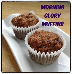 Something to have with your morning coffee!!These are very soft and moist because of the apple sauce YUMMM!!Morning Glory Muffins2 cups almond flour1 cup granulated Swerve, Stevia or Truvia2 teaspoons baking soda2 teaspoons cinnamonpinch of salt2 cups grated carrots1/2 cup raisins1/2 cup finely chopped pecans (or walnuts)3 whole eggs1 cup apple sauce1 apple, cored and shredded2 teaspoons vanilla extractIn a large mixing bowl, combine the first 5 ingredients well. Stir in carrots, raisins…