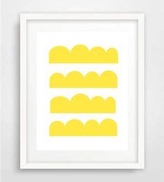Geometric Art, Yellow Circles, Kids Room Art, Scandinavian print, poster, Nordic…