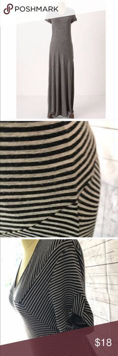 Anthropologie striped maxi Dilettante Linear Landscape maxi dress from Anthropologie. Only reposhing because sadly this did not make as great a maternity dress as I'd hoped. My bust got too busy too fast for the stripes to be very appealing 😜😬 Anthropologie Dresses Maxi
