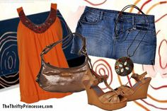 Summery sizzle outfit www.thethriftyprincesses.com
