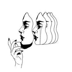 motifs floraux de tatouage - tatouages et art corporel - Kreslení Art And Illustration, Art Sketches, Art Drawings, Art Inspo, Line Art, Cool Art, Art Photography, Artsy, Prints