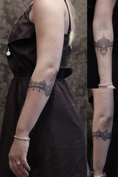 dot bracelet tattoos - Google Search