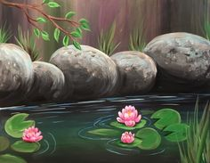 Hey! Check out Peaceful Pond II at Knights Corner Pub and Grill - Paint Nite