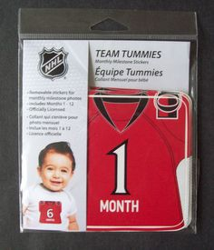 NHL Ottawa Senators Team Tummies Monthly Stickers of Senators Sens Hockey Jersey #FirstTimeFan