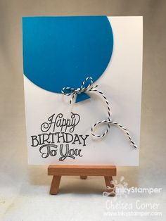 Fast and Simple Birthday Card with Balloon with FSJ ballon die and stamps