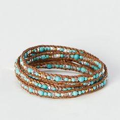 Desert Stone Wrap Bracelet.  <3<3<3