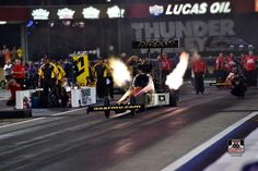 Tony Schumacher & Team racing in Bristol Tennessee for the Thunder Valley National's in the US. Army T/F Dragster