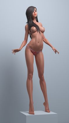Cartoon cute girl by Roman Adamanov | Cartoon | 3D | CGSociety