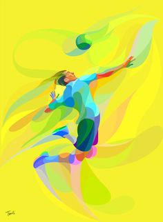 """A series of neofuturistic artworks, studies and illustrations. My friend Paolo use to call the """"Waves of Color"""". These are works I have created for various clients or for self initiated projects. Sports Art, Kids Sports, Illustration Design Graphique, Illustration Art, Sport Motivation, Exercise Motivation, Quotes Motivation, Sports Illustrated, Acevedo"""