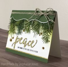 Pine needles are approx 3 inches long each Please excuse our slanted photo of the actual product. We do this to protect ourselves from dishonest companies in China who do not care about other businesses intellectual ownership. Christmas Cards 2018, Stampin Up Christmas, Noel Christmas, Xmas Cards, Handmade Christmas, Holiday Cards, Christmas Crafts, Cards Diy, Fun Craft