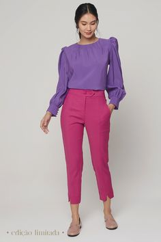 Skirt Pants, Pants Outfit, Shorts, Cool Style, My Style, Pink Pants, Color Combos, Favorite Color, Ideias Fashion