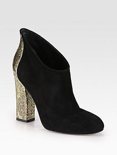 Sigerson+Morrison Tabor+Suede+and+Metallic+Leather+Ankle+Boots
