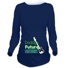 Daddys future guitarist Long Sleeve Maternity T-Sh> Daddys Future Guitarist> Demma Designs