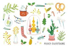 Christmascard Countdown seen on HappyMakersBlog.com ~ Illustration : Iingrid Wuyster