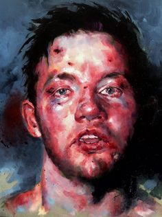 Andy lee, oilpaint portrait , from Howard Schatz photography