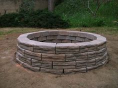 Build an outdoor fire pit with your long Memorial Day weekend!