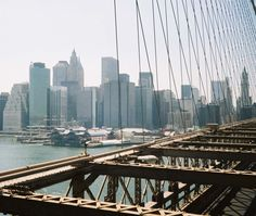 Downtown Manhattan from the Brooklyn Bridge, May 2008.