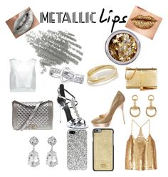 """Metallic Time"" by azka-hasan on Polyvore featuring beauty, Chanel, Giuseppe Zanotti, Kenneth Jay Lane, Jimmy Choo, In Your Dreams, Yves Saint Laurent, Inez & Vinoodh, Dolce&Gabbana and Gucci"