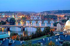 Prague Bridges by upperclasslemon, via Flickr