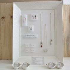 ArtMind: Jewellery display and price tags with semi-transparent paper/vellum and foamboard