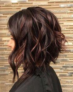 Dark Chocolate Brown Spring Hairstyles Ideas 2018