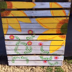 Pallet flowers