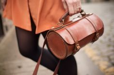 ULTIMATE DREAM PURSE! I will auction my house for this beauty!!! Burnt orange and bows by Wayward Daughter