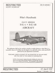 Vought  F4U-A, B, Pilot 's Handbook of flight operation instructions , AN 01-45HB-1 , 1947