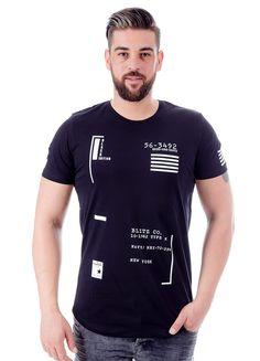 Modagen.com   Erkek Giyim, Erkeklere Özel Alışveriş Sitesi ~ Siyah Baskılı Erkek Tişört