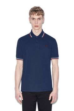 474e106a Fred Perry - M12 French Navy / Snow / Maroon Fred Perry Shirt, Men's  Collection